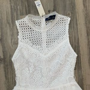 Francesca's White Dress with Lace.